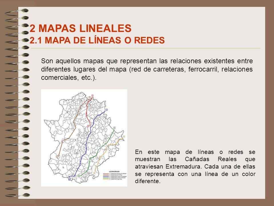 2 MAPAS LINEALES 2.1 MAPA DE LÍNEAS O REDES