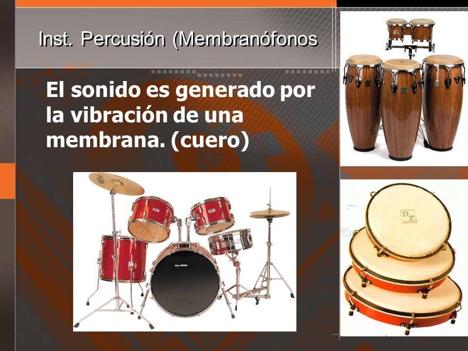 Inst. Percusión (Membranófonos