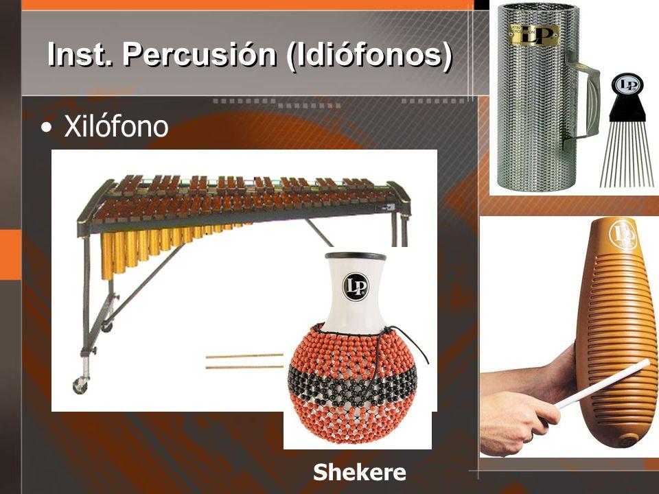 Inst. Percusión (Idiófonos)