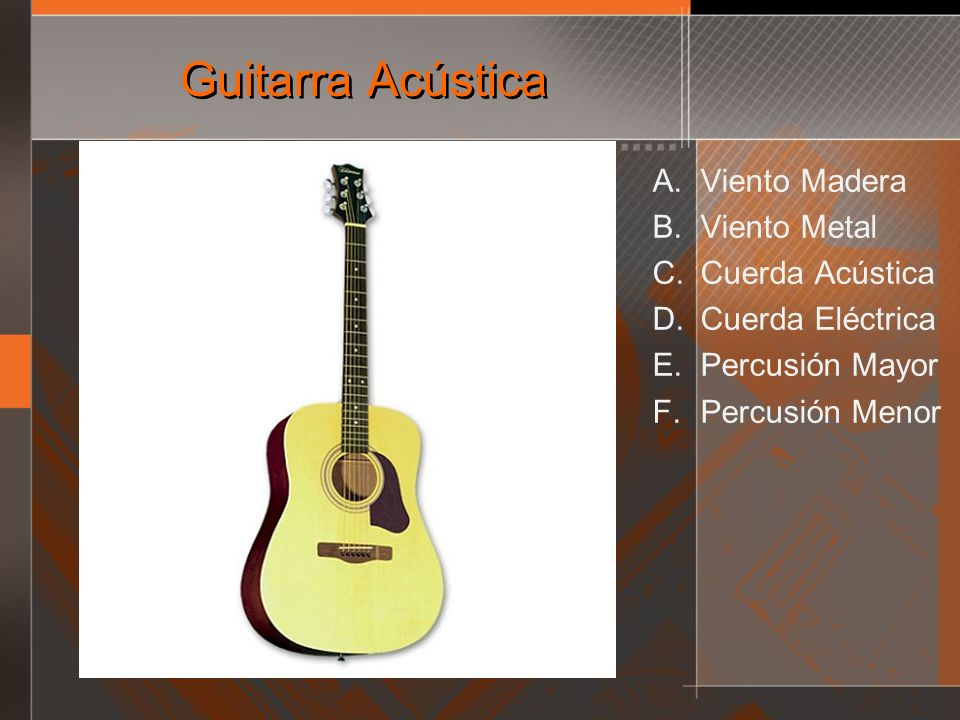 Guitarra Acústica Viento Madera Viento Metal Cuerda Acústica