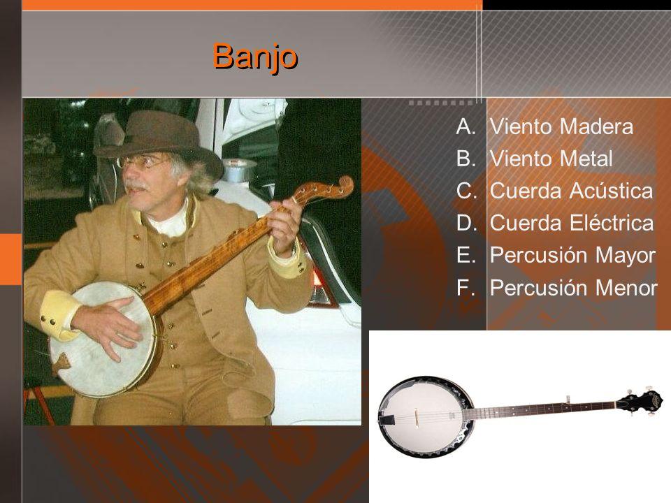 Banjo Viento Madera Viento Metal Cuerda Acústica Cuerda Eléctrica