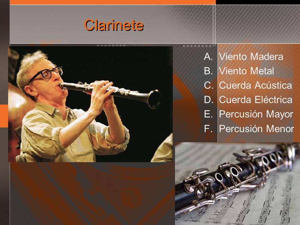 Clarinete Viento Madera Viento Metal Cuerda Acústica Cuerda Eléctrica