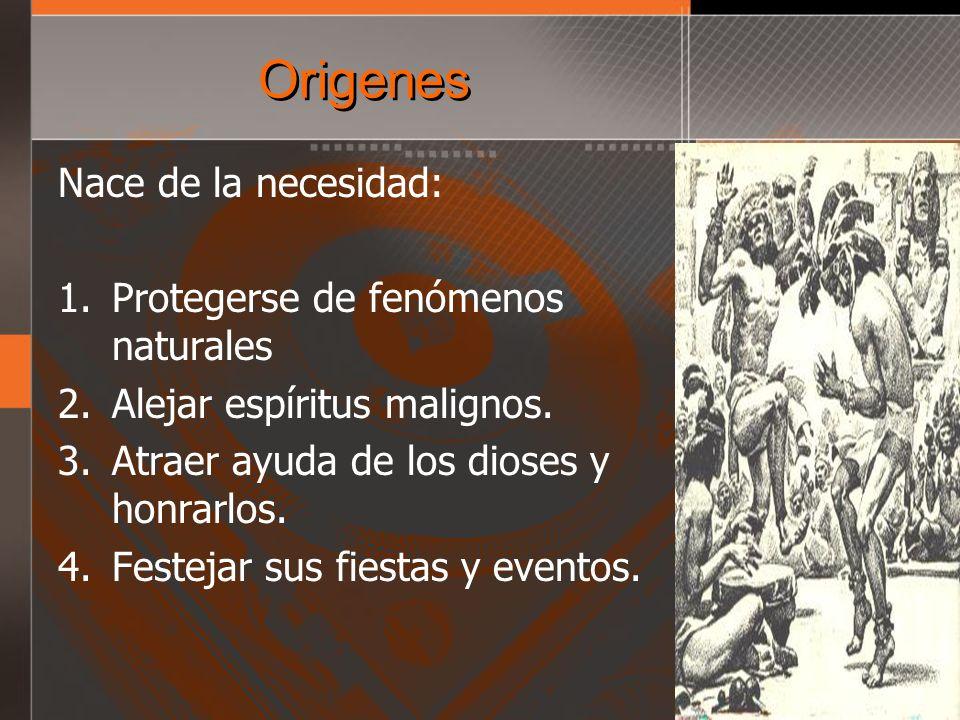 Origenes Nace de la necesidad: Protegerse de fenómenos naturales