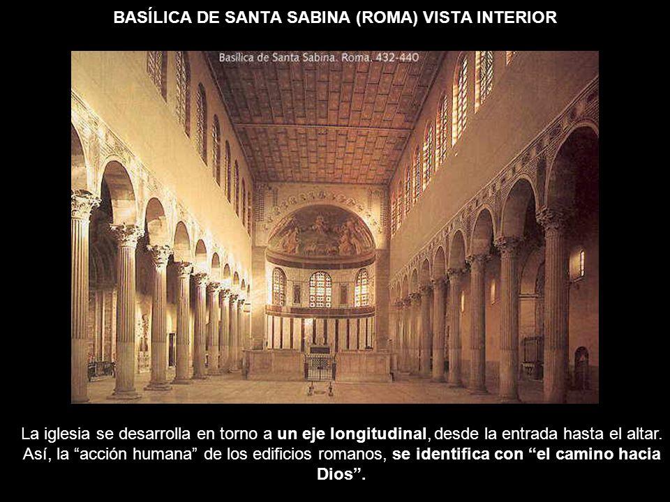 BASÍLICA DE SANTA SABINA (ROMA) VISTA INTERIOR