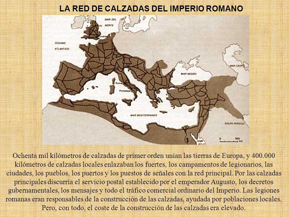 LA RED DE CALZADAS DEL IMPERIO ROMANO