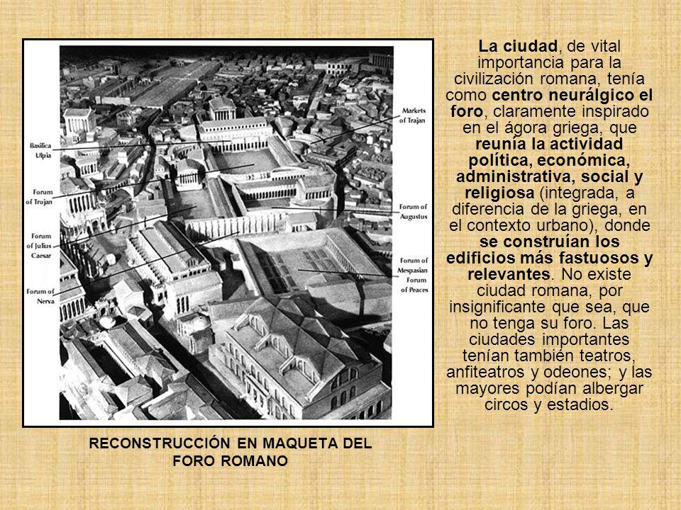 RECONSTRUCCIÓN EN MAQUETA DEL FORO ROMANO