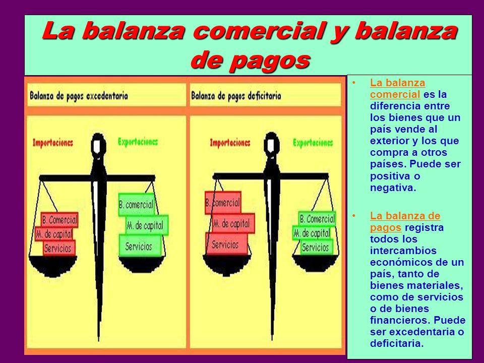 La balanza comercial y balanza de pagos