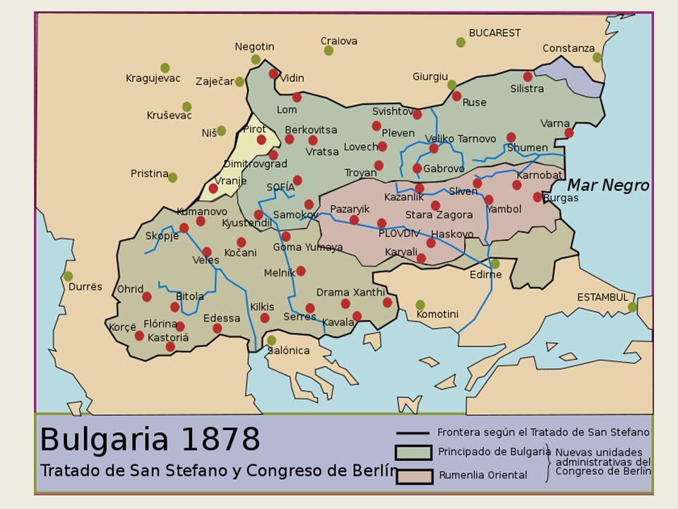 GRAN BULGARIA. Tratado de San Estéfano
