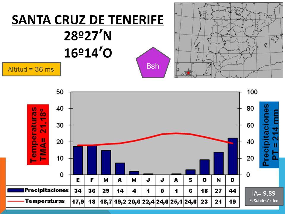 SANTA CRUZ DE TENERIFE 28º27'N 16º14'O