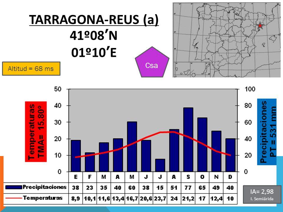 TARRAGONA-REUS (a) 41º08'N 01º10'E