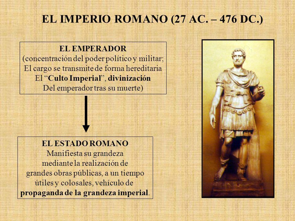 EL IMPERIO ROMANO (27 AC. – 476 DC.)