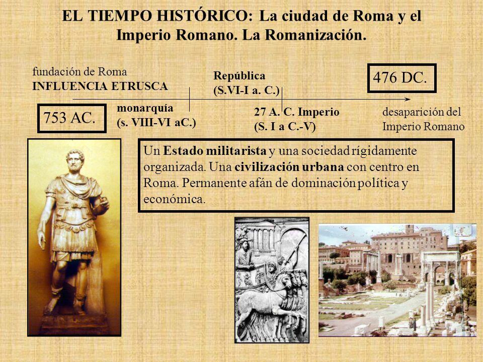 EL TIEMPO HISTÓRICO: La ciudad de Roma y el Imperio Romano