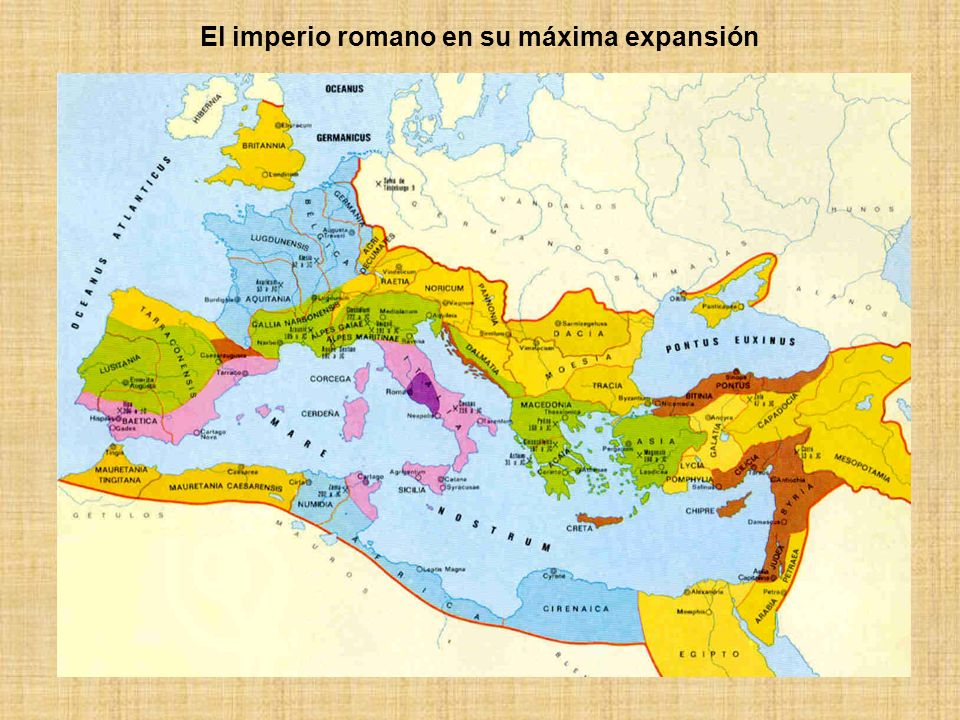 El imperio romano en su máxima expansión
