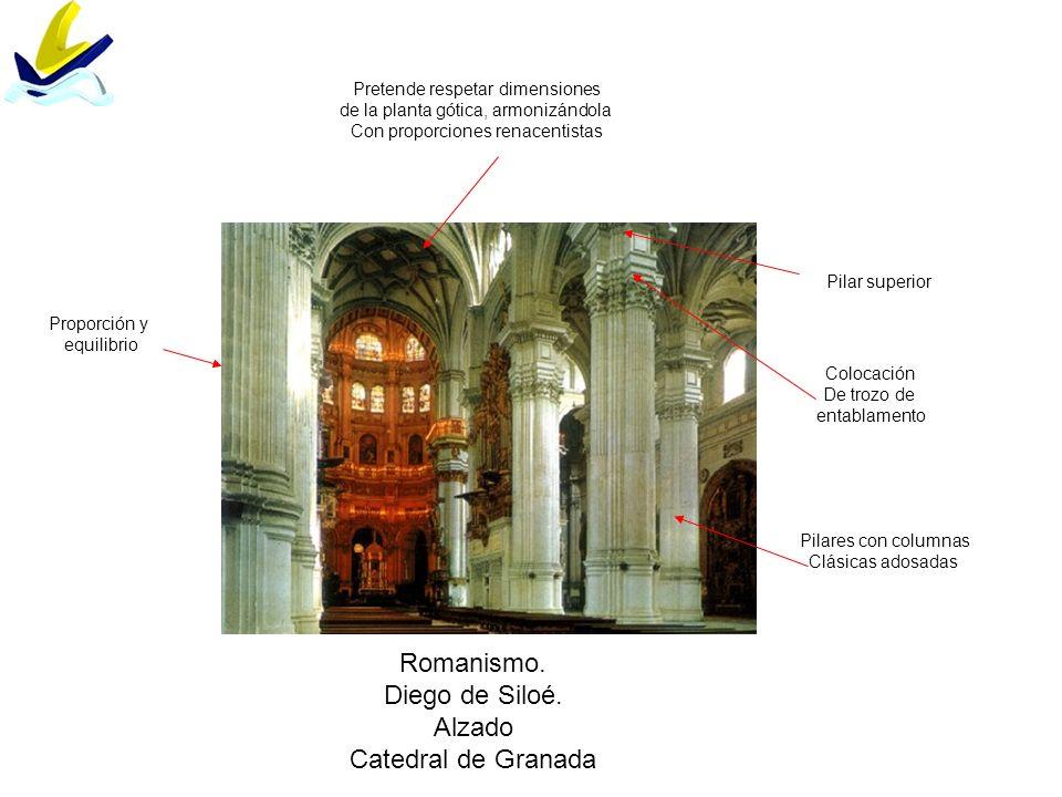 Romanismo. Diego de Siloé. Alzado Catedral de Granada