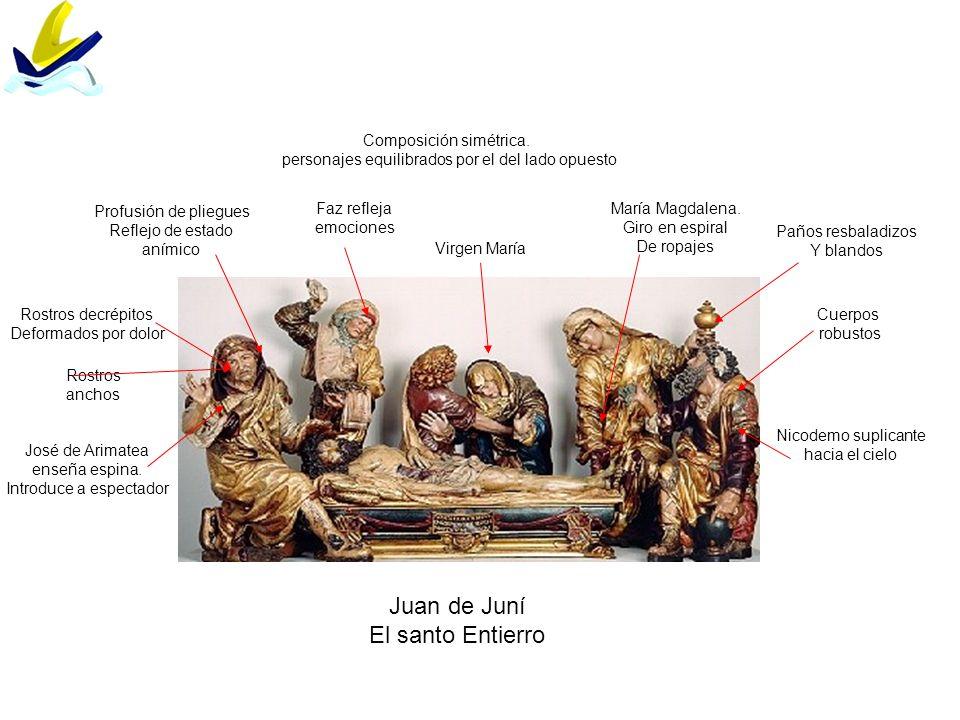 Juan de Juní El santo Entierro Composición simétrica.