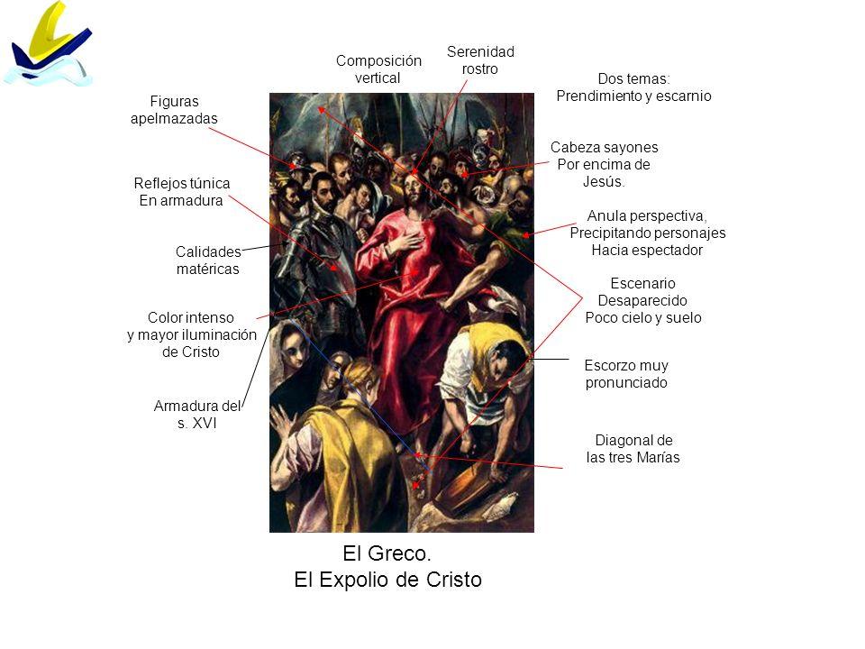 El Greco. El Expolio de Cristo Serenidad rostro Composición vertical