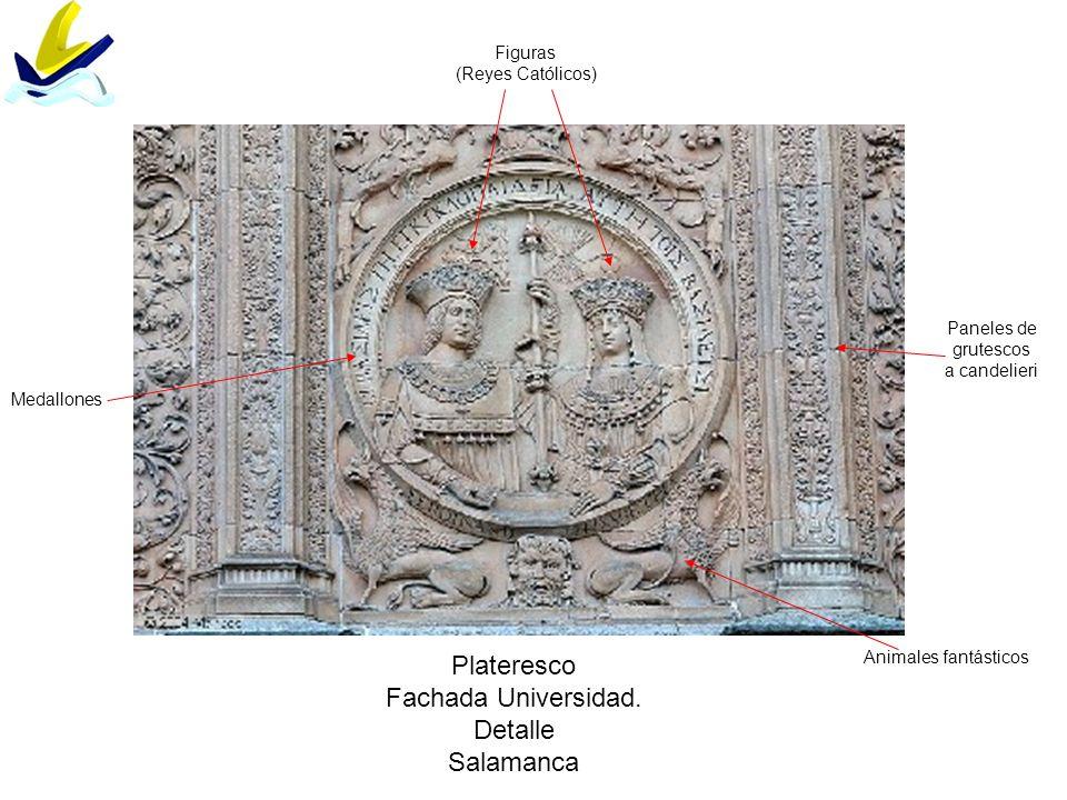 Plateresco Fachada Universidad. Detalle Salamanca Figuras