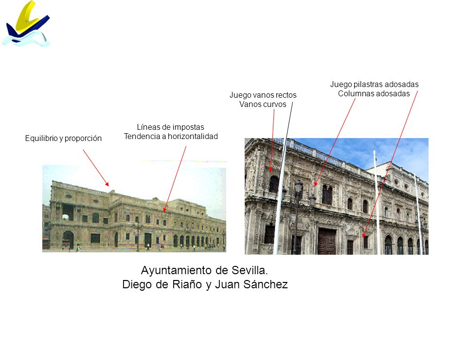 Ayuntamiento de Sevilla. Diego de Riaño y Juan Sánchez