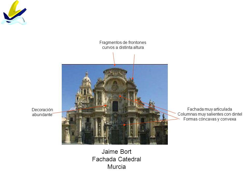 Jaime Bort Fachada Catedral Murcia Fragmentos de frontones
