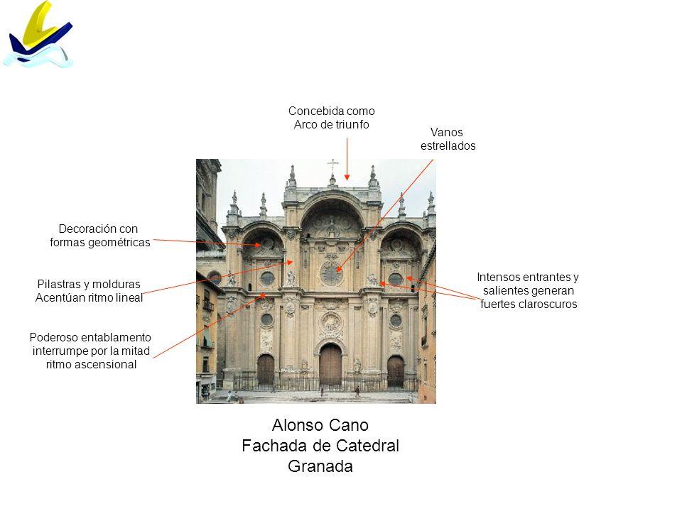 Alonso Cano Fachada de Catedral Granada Concebida como Arco de triunfo