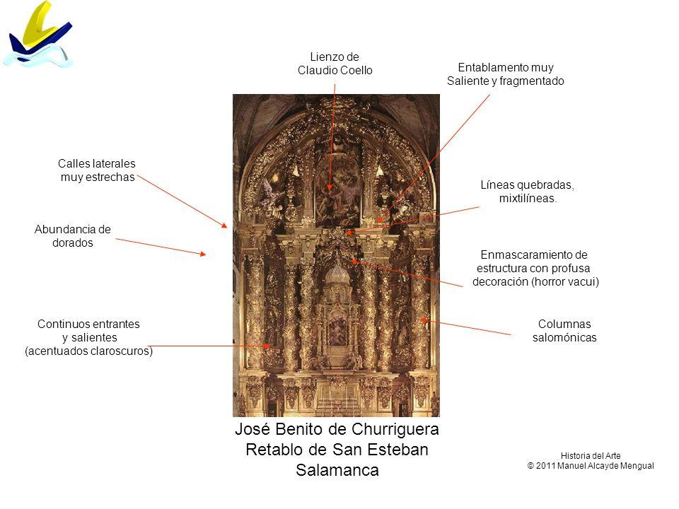 José Benito de Churriguera Retablo de San Esteban Salamanca