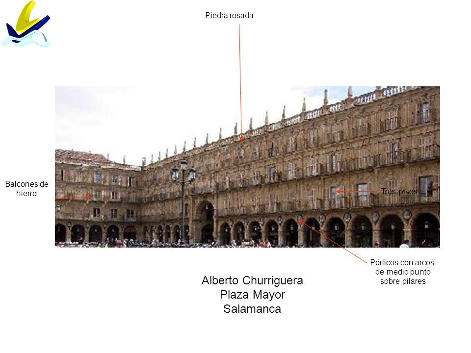 Alberto Churriguera Plaza Mayor Salamanca Piedra rosada Balcones de