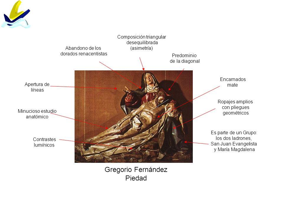 Gregorio Fernández Piedad Composición triangular desequilibrada