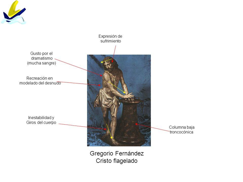 Gregorio Fernández Cristo flagelado Expresión de sufrimiento