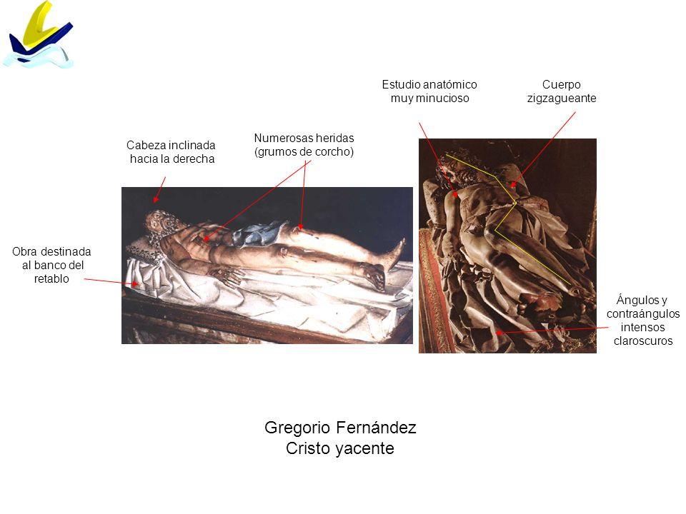 Gregorio Fernández Cristo yacente Estudio anatómico muy minucioso