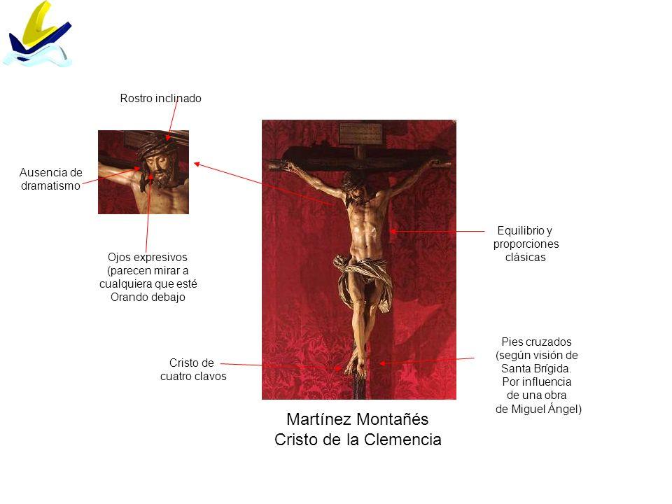 Martínez Montañés Cristo de la Clemencia Rostro inclinado Ausencia de