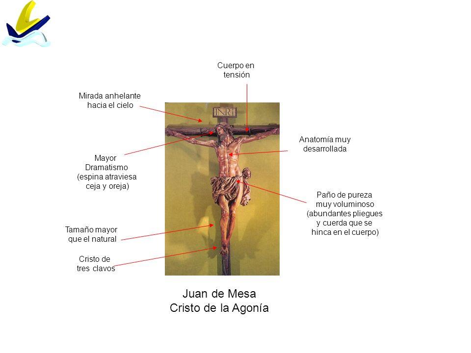 Juan de Mesa Cristo de la Agonía Cuerpo en tensión Mirada anhelante