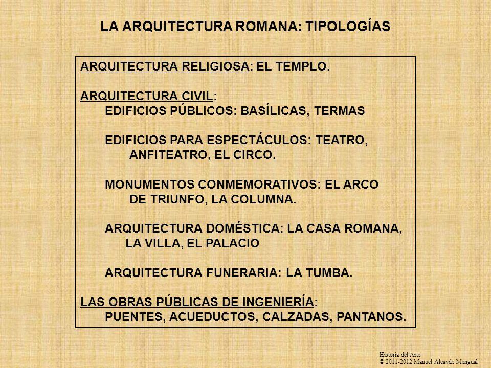 LA ARQUITECTURA ROMANA: TIPOLOGÍAS