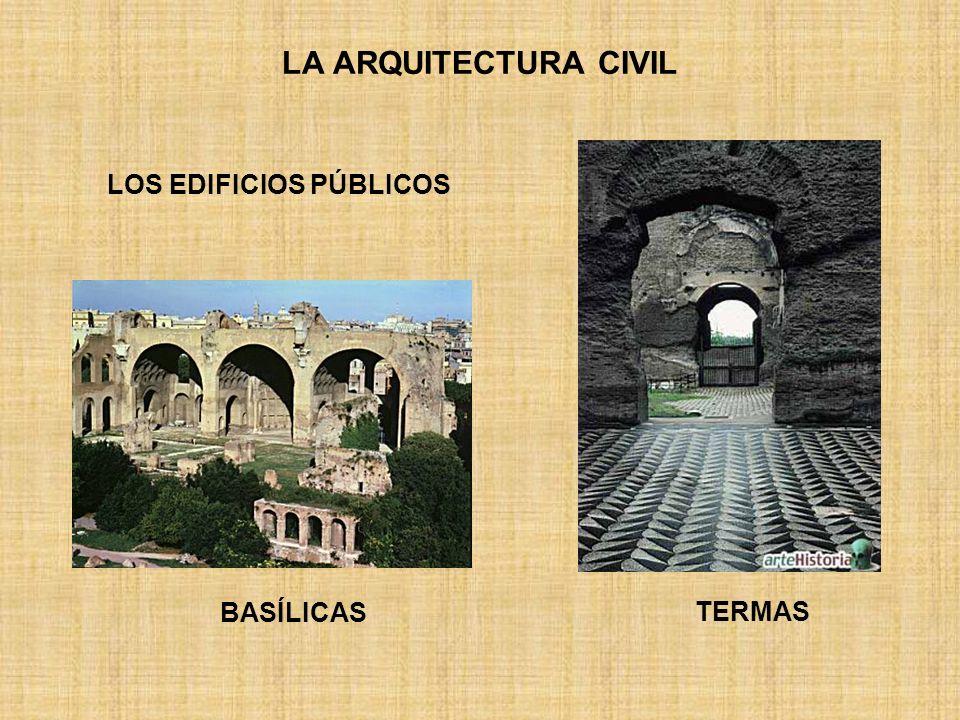 LA ARQUITECTURA CIVIL LOS EDIFICIOS PÚBLICOS BASÍLICAS TERMAS