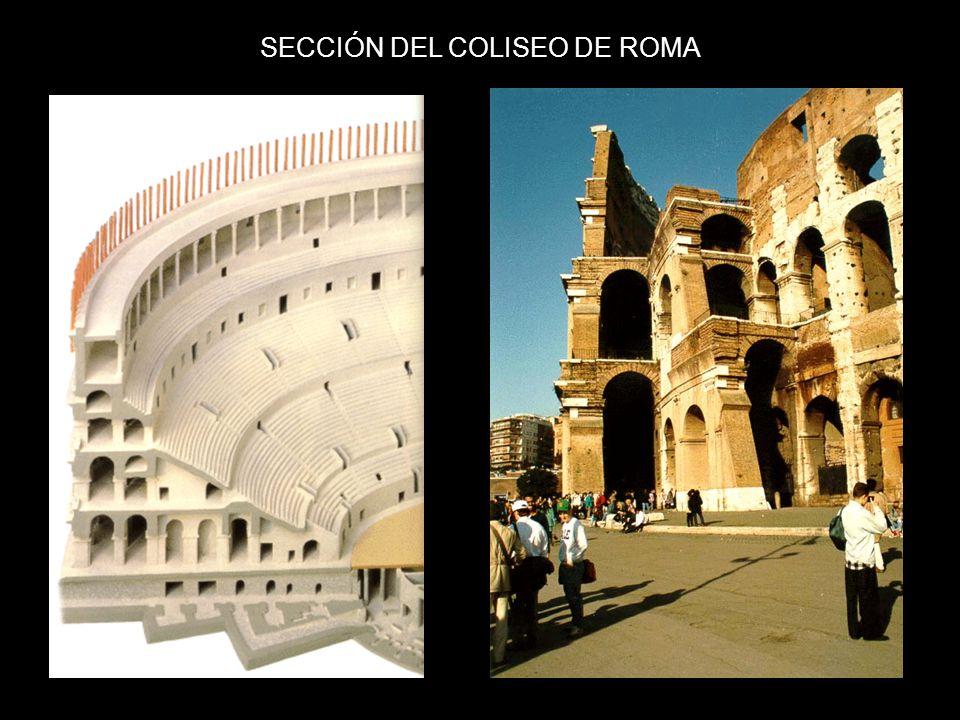 SECCIÓN DEL COLISEO DE ROMA