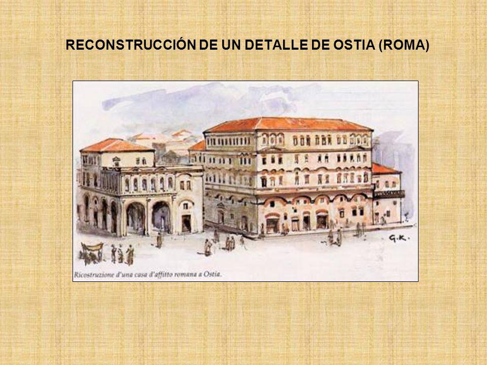 RECONSTRUCCIÓN DE UN DETALLE DE OSTIA (ROMA)