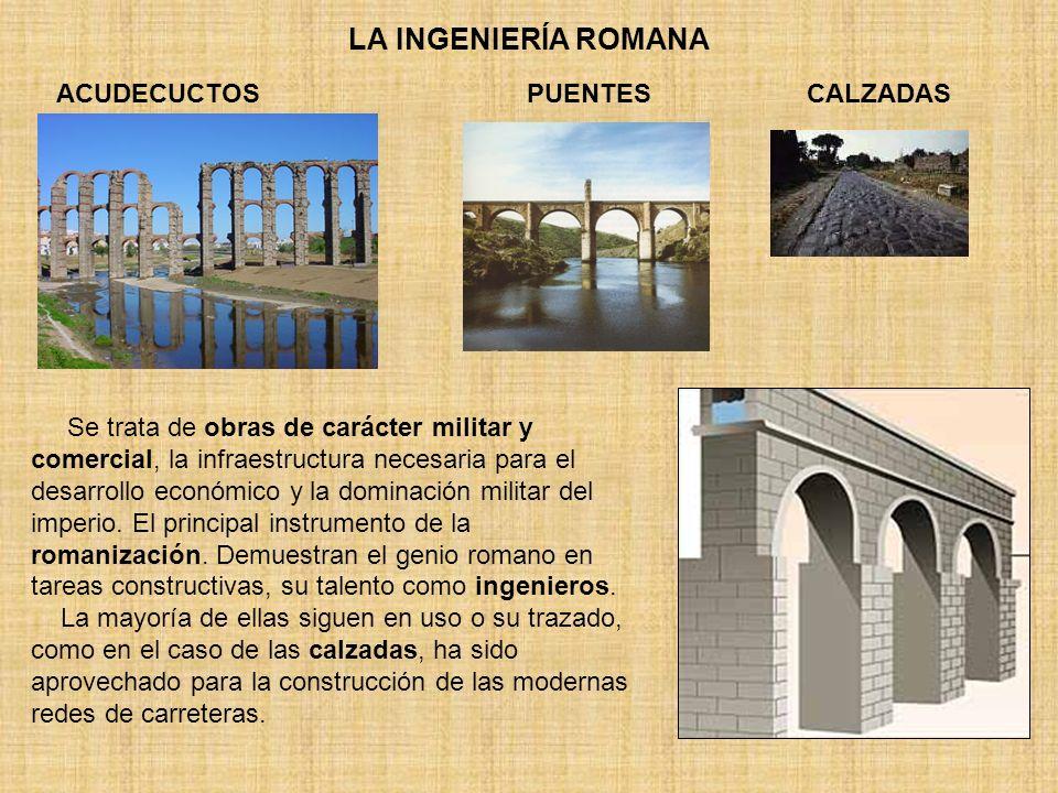 LA INGENIERÍA ROMANA ACUDECUCTOS PUENTES CALZADAS