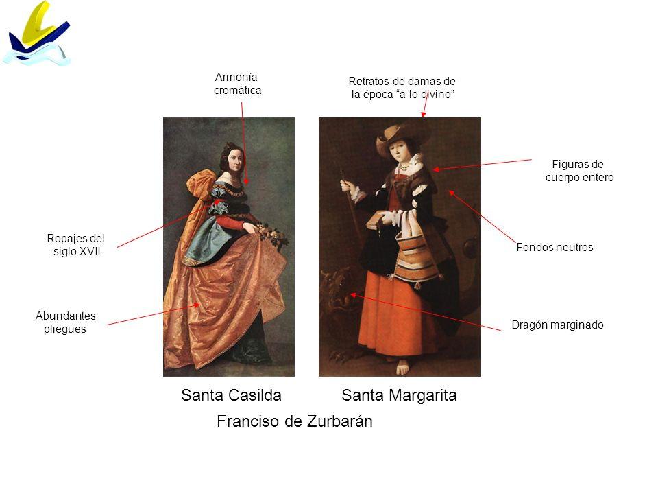 Santa Casilda Santa Margarita Franciso de Zurbarán Armonía