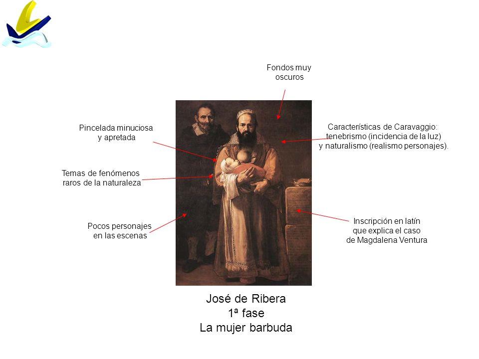 José de Ribera 1ª fase La mujer barbuda Fondos muy oscuros