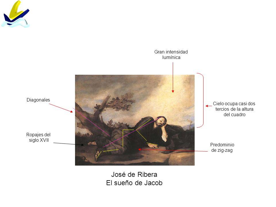 José de Ribera El sueño de Jacob Gran intensidad lumínica Diagonales
