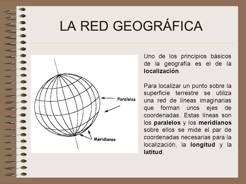 LA RED GEOGRÁFICA Uno de los principios básicos de la geografía es el de la localización.
