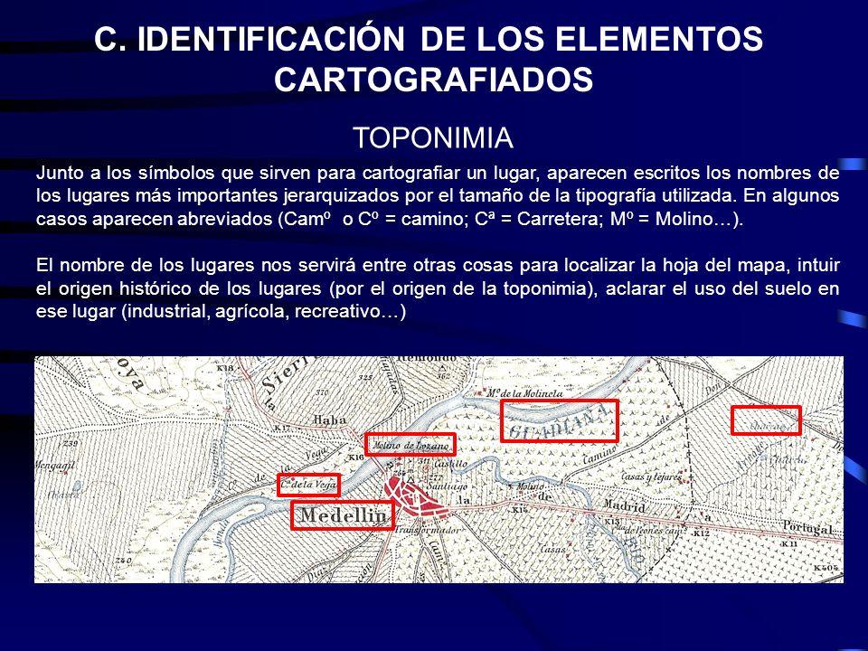 C. IDENTIFICACIÓN DE LOS ELEMENTOS