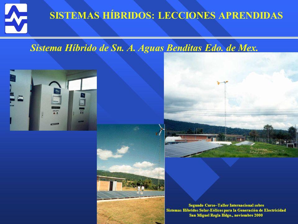 Sistema Híbrido de Sn. A. Aguas Benditas Edo. de Mex.