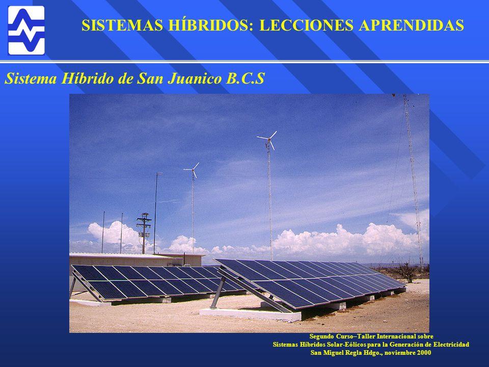 Sistema Híbrido de San Juanico B.C.S