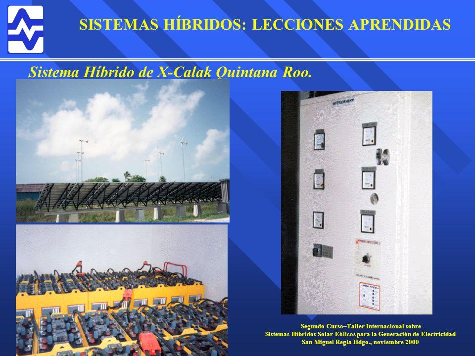 Sistema Híbrido de X-Calak Quintana Roo.