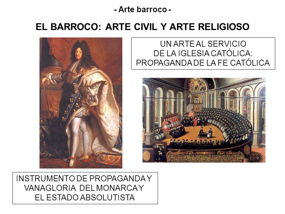 EL BARROCO: ARTE CIVIL Y ARTE RELIGIOSO