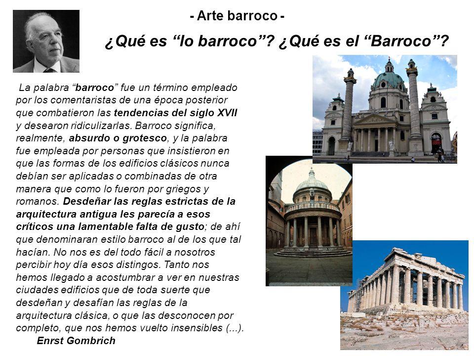 ¿Qué es lo barroco ¿Qué es el Barroco
