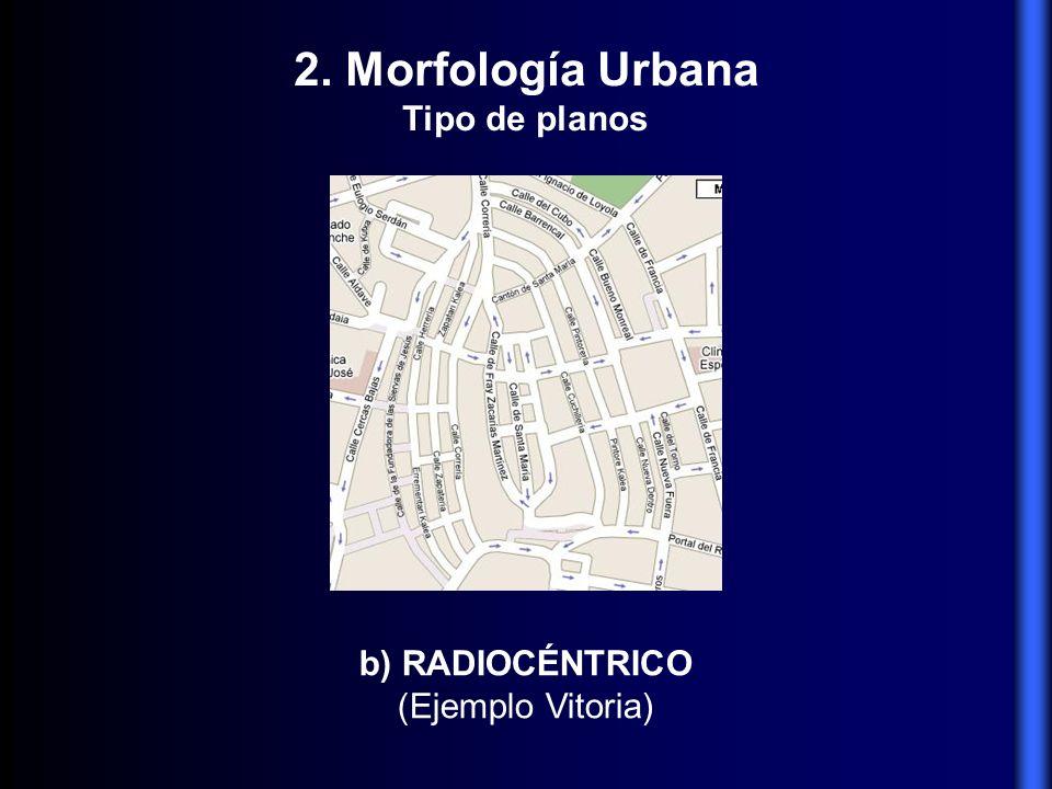 2. Morfología Urbana Tipo de planos b) RADIOCÉNTRICO (Ejemplo Vitoria)