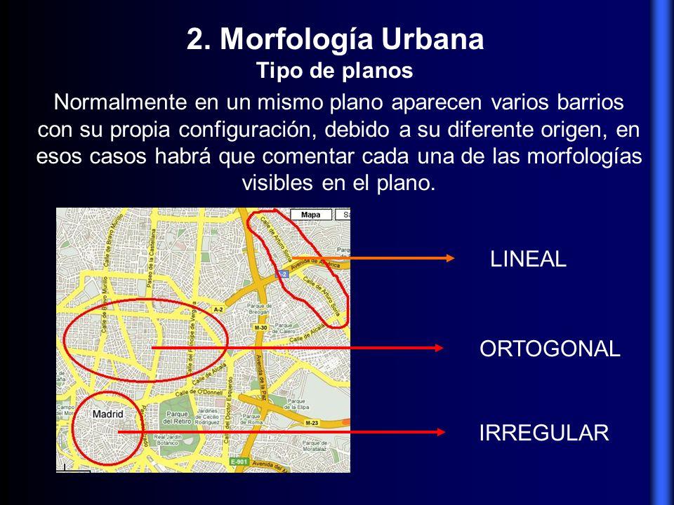 2. Morfología Urbana Tipo de planos