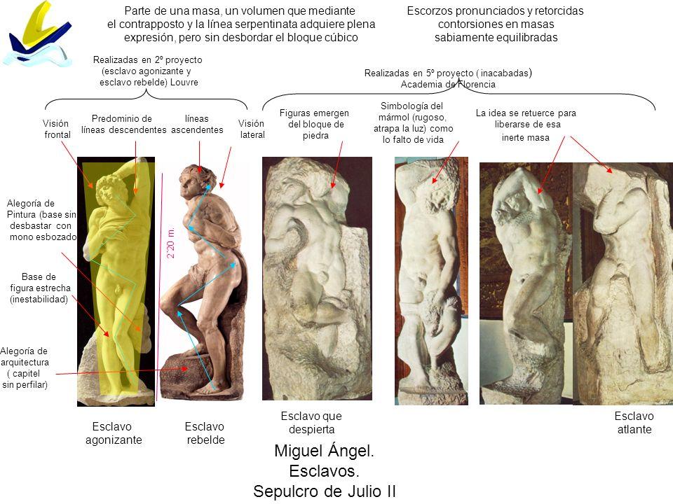 Miguel Ángel. Esclavos. Sepulcro de Julio II