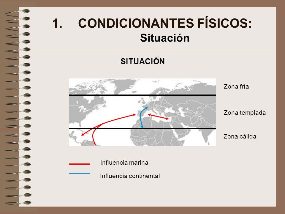 CONDICIONANTES FÍSICOS: Situación